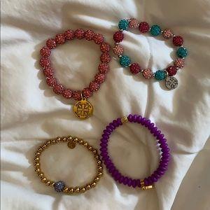 lot of 4 Rustic Cuff bracelets